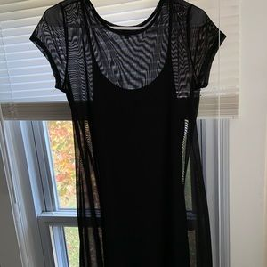 Black mesh dress w/ the attached dress underneath